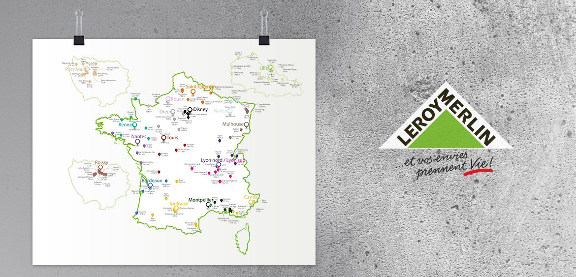 Cartographier l 39 implantation des points de vente leroy - Carte de fidelite leroy merlin ...